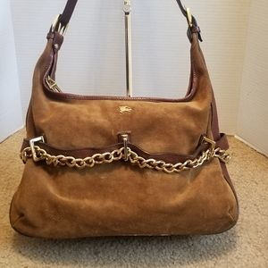 Burberry Suede and Chain Shoulder Bag